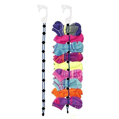angeloo Socke Organizer, einfach Clips & Schlösser gepaart Socken ohne Krawatten, Taschen oder Trennwände für laundry- Waschen, Trocknen, Speichern und nie wieder verlieren Socken