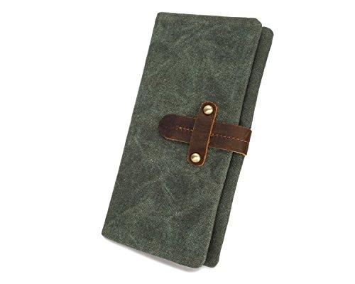 DXL-Men's Bags Herren Geldbörse Canvas Long Belt Retro Multifunktionale wasserdichte Geldbörse Mode Kupplung Herrentaschen (Color : Bronze, Size : S) -
