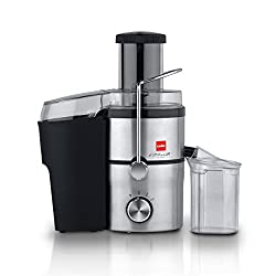 Cello JUC_STEEL_BLACK SLVR 500-Watt Juicer (Black/Silver)