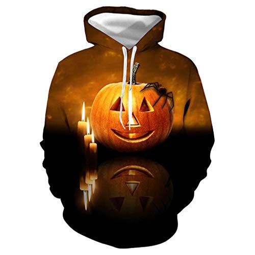 B-commerce Jack The Lantem Kapuzenpullover mit 3D-Druck, Unisex, Crazy Dunkle Nacht Shirt, Hoodie, für Halloween, Kostüm, Party, - 70's Soul Kostüm