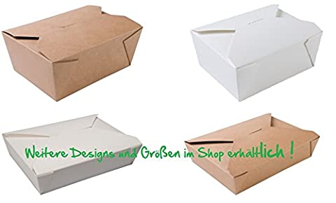 15Bioboxen for Pastries, Cake, Chocolate, Cookies, Cupcakes, and much more–An Ideal Gift For Food Take Out Box–Decorative Boxes Square Box and Gift Bag–Lunch Box–Large brown