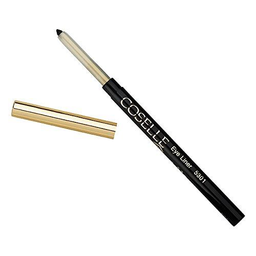 Coselle Eyeliner Schwarz, sehr weich, gut haftend, wasserfester Drehstift, kein Anspitzen, Made in...
