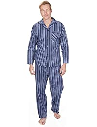 Hombre Perchado 100% pura% Pijama De Algodón Cálido De Invierno Franela Térmico M L XL XXL