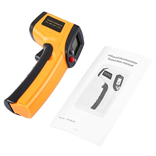 Gugutogo Non-Contact Digital LCD Infrared Thermometer Gun IR Laser Point Thermal Infrared Imaging Temperature Handheld Meter Pyrometer 50 Mw Laser-pointer