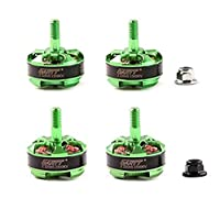GARTT 4pcs Z 2204S 2300KV Brushless Motor CW/CCW Green for FPV 210 250 300 Drones QAV Quadcopter by Gartt