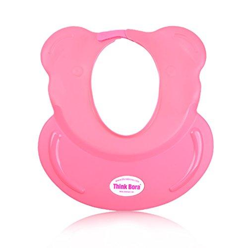 Enfants Bébé Cap Shampooing Shampoo Cap bébé Douche Bonnet de douche de Elastomers oreille en silicone étanche peut être ajustée ( couleur : Rouge )