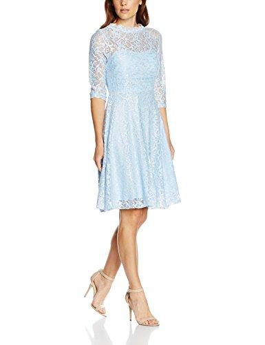 Intimuse Damen, Cocktail Kleid mit Spitzendetails, Blau (Eisblau 051), 38