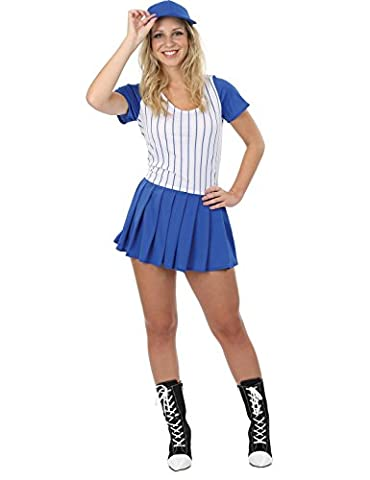Costumes Ladies Fancy Dress - Adult Ladies Baseball Girl Fancy Dress Costume