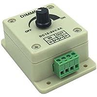 Sienoc LED Dimmer Control de brillo interruptor de regulador controlador para luces SMD Strip 12V DC, máx. 8A