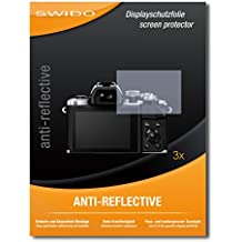 3 x SWIDO Anti-Reflective Pellicola protettiva anti-riflesso e con rivestimento resistente per Olympus OM-D E-M10 Mark II / OMD EM10 Mark 2 - QUALITA' PREMIUM - Made in Germany