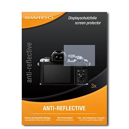 Galleria fotografica 3 x SWIDO Anti-Reflective Pellicola protettiva anti-riflesso e con rivestimento resistente per Olympus OM-D E-M10 Mark II / OMD EM10 Mark 2 - QUALITA' PREMIUM - Made in Germany