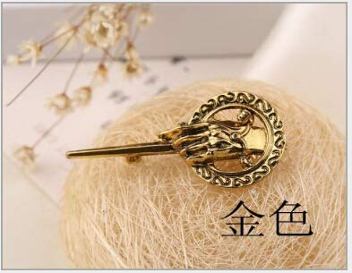 Kofun Brosche, Charming Game of Thrones Hand des Königs Revers Replica Kostüm Pin Brosche (Farbe: Gold) Lyd