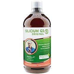 Silicum G5 Original, Silicium organique, liquide buvable, Complément Alimentaire Surconcentré Articulaire, Articulations, Os Cheveux et Peau, production collagène