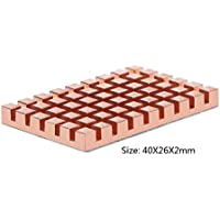 BASSK Disipador térmico de Cobre de 40x26MM y Adhesivo termoconductor de 2/3 / 4MM para mSATA NGFF 5030 msata3.0 SSD Radiador de Disco de Estado sólido