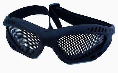 TOMTAC Softair Metall Mesh Brillen Paintball Schwarz Schnelle UK DEL Dark Tan Gurt @ Helm Welt