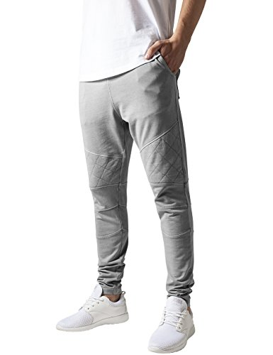 French Terry Classic Fit Pant (Urban Classics Herren Diamond Stitched Pants Hose, Grau (Grey 111), W30/L31 (Herstellergröße: S))