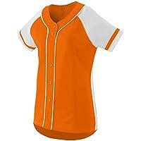 Augusta Sportswear Girls' Winner Softball Jersey S Power Orange/White