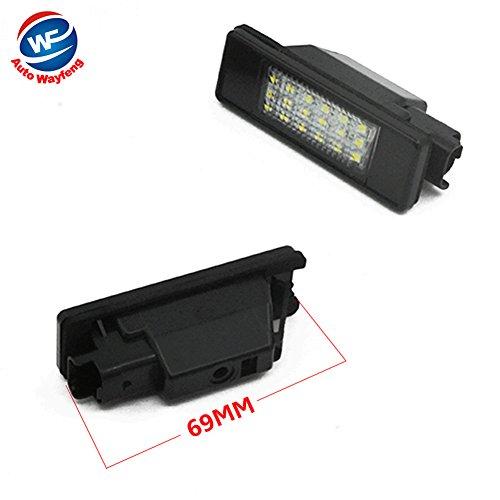 Auto Wayfeng WF LED SMD Luz de matrícula para CITROEN C2 3D / C3 5D / C4 3D / C4 5D / C5 4D / C5 5D / C6 4D / C8 4D DS3 3D