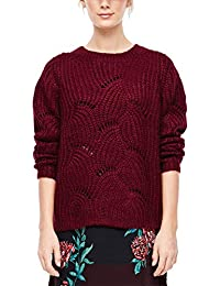 s.Oliver RED Label Damen Flauschiger Ajour-Pullover