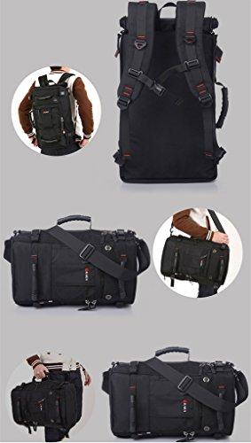 Super Modern Herren Oxford Freizeit Outdoor Wandern Rucksack Camping Rucksack groß Kapazität Rucksack Laptop-Tasche Schwarz