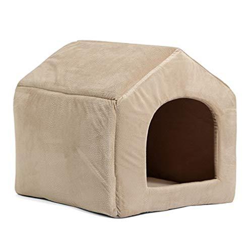 Beige-deck-matte (ekcnjs Pet Products Hundehütte Cosy Hundebett Welpen Hundehütte Pet Schlafende Bett Katzenkissen Kätzchen Matten Pet Shop Beige L)