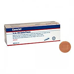 Coverlet Round Spot Fabric Bandages Box of 100