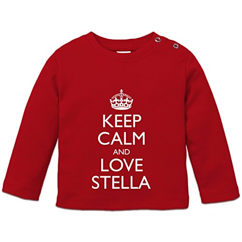 Keep Calm And Love STELLA Baby Langarmshirt by Shirtcity (Mädchen Stella Langarmshirts)