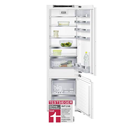 Siemens iQ500 Einbau-Kühl-Gefrier-Kombination KI87SAD40 / Flachscharnier / A+++ / 149 kWh / 177,2 cm Höhe / 208 L Kühlteil / 61 L Gefrierteil / Frischesystem - hyperFresh Plus / lowFrost / bigBox