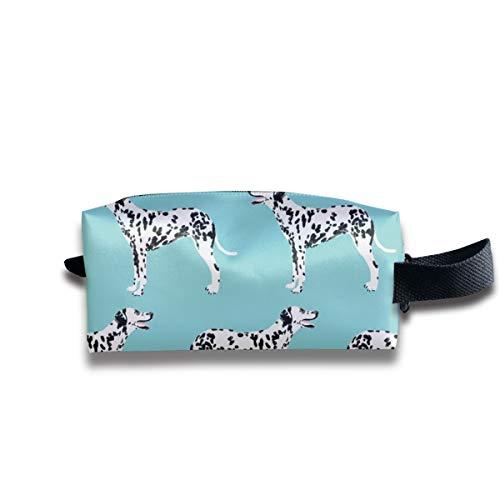 Dalmatiner Dog Dogs Blue Cute Pet Dog Stoff Dalmatiner Fabric_654 Tragbare Reise Make-up Kosmetiktaschen Organizer Multifunktions Fall Taschen für Unisex