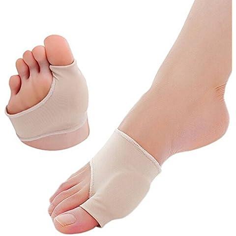 Hrph 1 par grande del dedo del pie dedos del pie del amortiguador Quiste cuidado de los pies Herramienta de nylon elástico Hallux Valgus Guardia Bunion Separador Pulgar protector