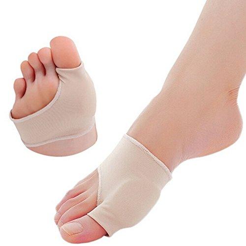 Hrph 1 Paar große Zehe Cyst Fußpflege Werkzeug Stretch Nylon Hallux Valgus-Schutz-Kissen Bunion Toes Separator Daumenschutz (Spandex-stretch-zehen-socken)