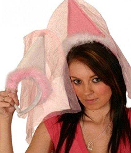 Headband Princess with hat & Veil White -