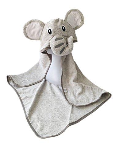 Großes Baby-Badetuch mit 100% Baumwolle & maschinenwaschbar im Elefanten-Design | Kapuzenhandtuch perfekt geeignet als Geschenk für Neugeborene, Kleinkinder, Säuglinge, Mädchen & Jungen von YourMate (Ninjago-namen Und Farben)