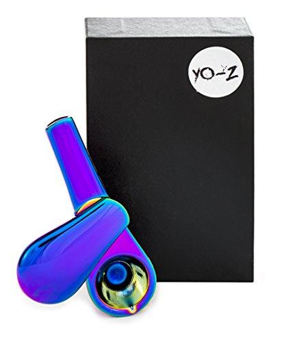 YO-Z Tabak Rohr für praktisch und diskret Rauchen Rohr-Revolutionäre 3Stück Smoke mit Magnetverschluss, irisierend Rainbow Schüssel Rohr inklusive gratis Geschenk