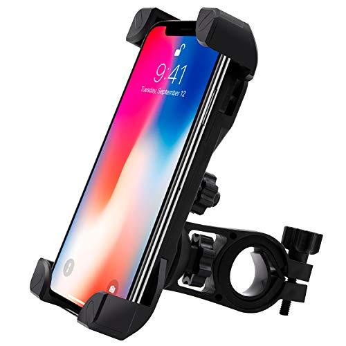 Handyhalterung Fahrrad, 360-Drehung Universal Handyhalter Fahrrad mit 4 Klemmarmen Anti-Shake-System und stabile Handyhalterung Motorrad für alle Smartphones zwischen 3,5 und 6,5 Zoll