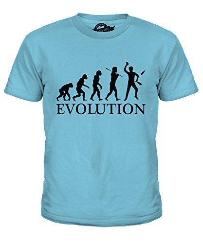 Candymix Barkeeper Evolution des Menschen Unisex Jungen Mädchen T Shirt, Größe 4 Jahre, Farbe Himmelblau