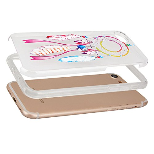 GrandEver Coque iPhone 7 Transparente Silicone Gel avec Attrape Reve Motif Fine Design Bumper Utra Mice Soft Doux Flexible Case Etui Cover Housse Attrape Reve 2