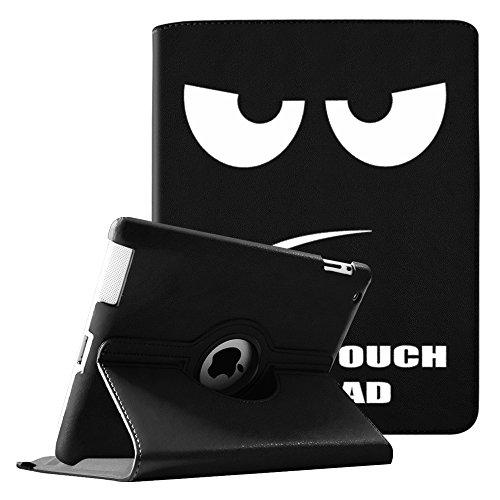 Fintie iPad 2/iPad 3/iPad 4 Hülle - 360 Grad rotierende Schutzhülle mit Standfunktion Cover Case Tasche Etui mit Auto Schlaf / Wach Funktion für Apple iPad 2,iPad 3 & iPad 4th Generation mit Retina Display - Dont Touch