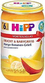 Hipp Frucht & Babygrieß, Mango-Banane-Grieß, 6er Pack (6 x 250 g)