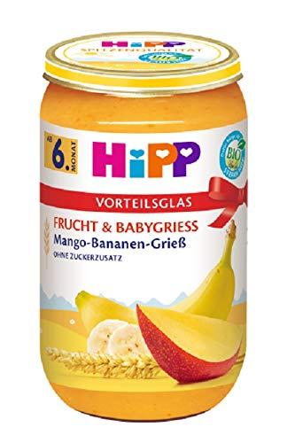 Hipp Frucht & Babygrieß, Mango-Banane-Grieß, 6er Pack (6 x 250 g) (Produkte Beliebteste)