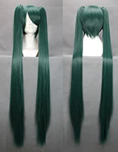 Vocaloid Hatsune Miku Senbonzakura cosplay wig perruque vert foncé