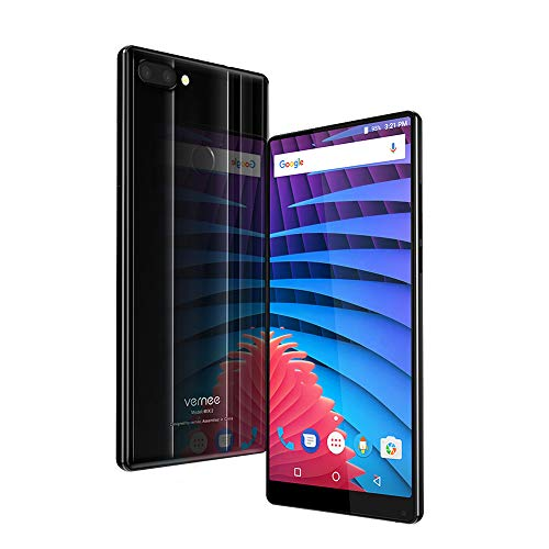 Vernee MIX 2 Smartphone 6 Zoll 18: 9 FHD + Bildschirm, Octa Core 4 GB RAM+64 GB ROM, 13MP + 5MP Dualhauptkameras + 8MP Frontkamera 4200mAh Akku Doppelseitiges Glass, Band 20 Smartphone Ohne Vertrag