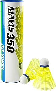 Yonex Mavis 350 Badmintonshuttle, Schachtel mit 6 Stücken, gelb, One Size,...