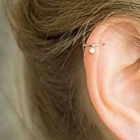 Knorpel Ohrring Hoop Helix Piercing CZ Ring Ohrpiercing Diamant Knorpelring Helix Reifen Gold Silber rot Gold 18g