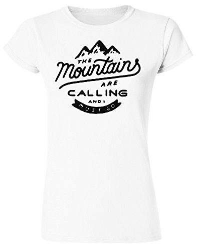 The Mountains Are Calling and I Must Go Damen T-Shirt Small