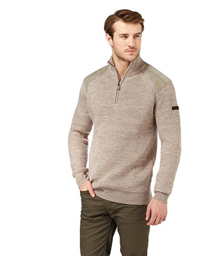 WoolOvers Pull Hill Walker - Homme - Pure laine Oatmeal