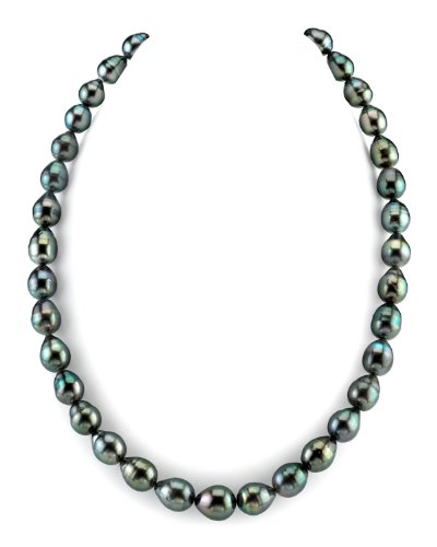 "8-10mm Tahitian South Sea Baroque Cultured Pearl Necklace - AAA Quality, 24"" Length, 14K Gold Clasp"