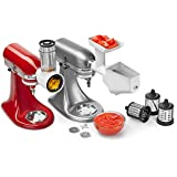 KitchenAid KSMFPPA Slicer/Shredder + Grinder/Strainer Mixer Attachment Pack, White