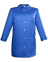 Ulla Popken - Señoras más tamaño, camisa-blusa con pliegue trasero, 3/4, 69349371