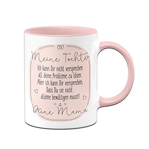 Tassenbrennerei Tasse mit Spruch für Tochter von Mama - Geschenke von Mutter für Tochter, Tassen mit Sprüchen (Rosa)